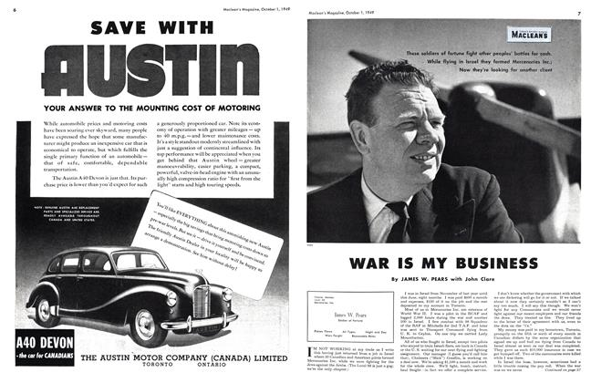 Article Preview: WAR IS MY BUSINESS, October 1949 | Maclean's
