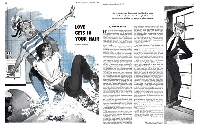 Article Preview: LOVE GETS IN YOUR HAIR, October 1949 | Maclean's