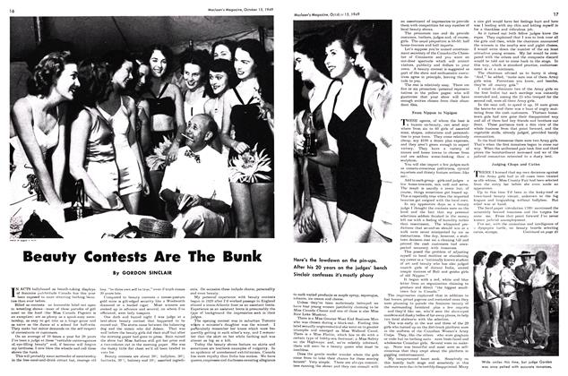 Article Preview: Beauty Contests Are The Bunk, October 1949 | Maclean's