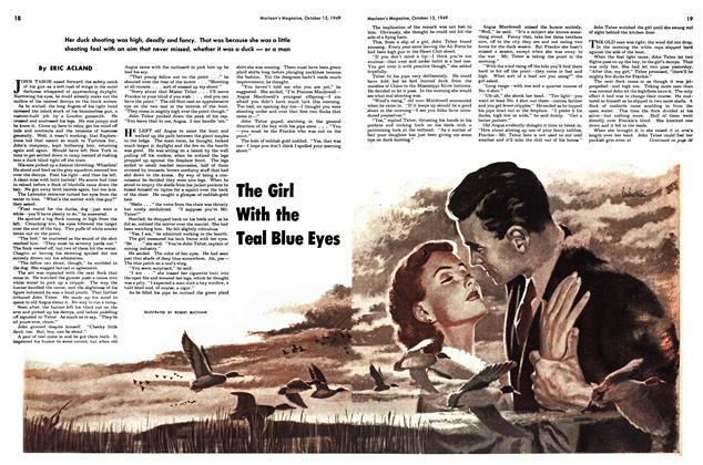 Article Preview: The Girl With the Teal Blue Eyes, October 1949 | Maclean's
