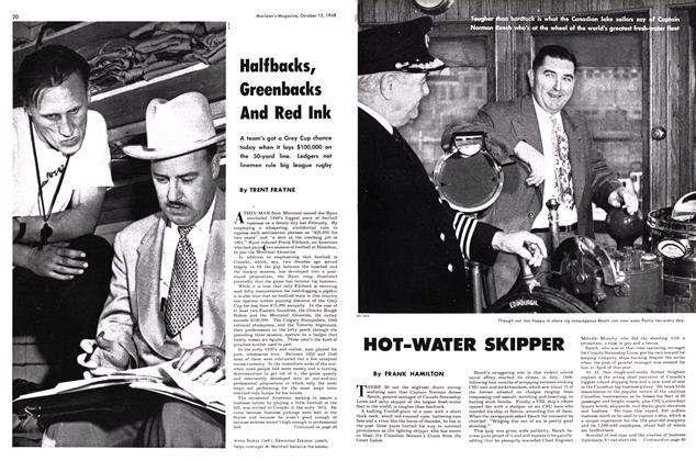 Article Preview: HOT-WATER SKIPPER, October 1949 | Maclean's