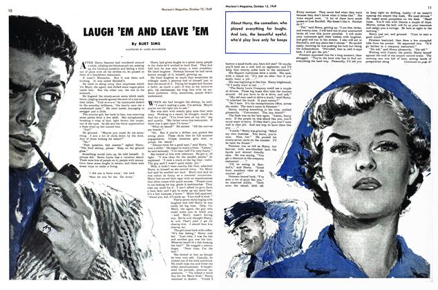 Article Preview: LAUGH 'EM AND LEAVE 'EM, October 1949 | Maclean's
