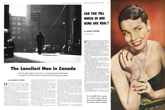 Article Preview: The Loneliest Man in Canada, November 1949 | Maclean's