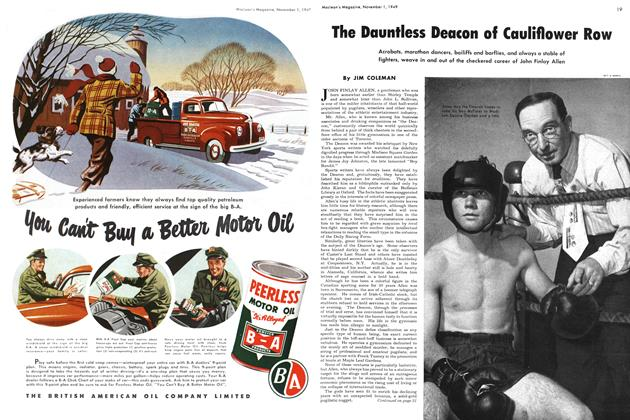 Article Preview: The Dauntless Deacon of Cauliflower Row, November 1949 | Maclean's