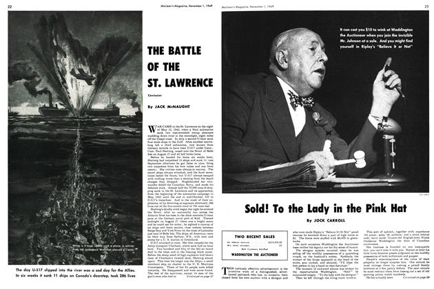 Article Preview: THE BATTLE OF THE ST. LAWREHCE, November 1949 | Maclean's