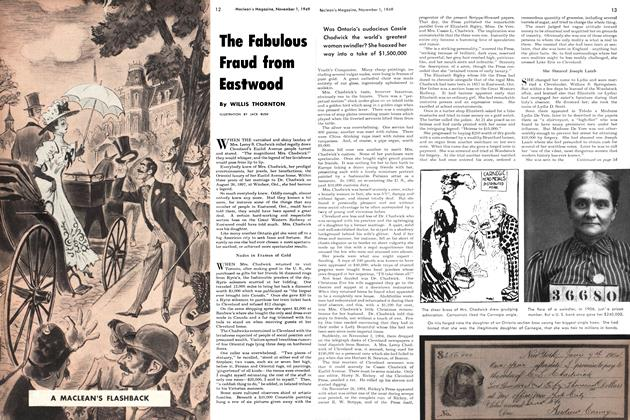 Article Preview: The Fabulous Fraud from Eastwood, November 1949 | Maclean's