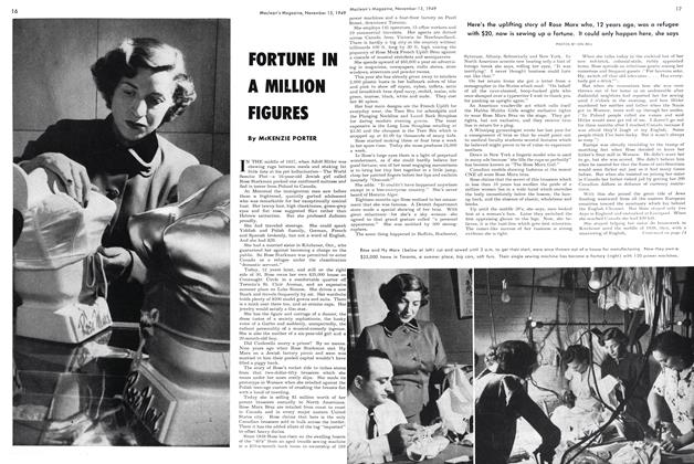 Article Preview: FORTUNE IN A MILLION FIGURES, November 1949 | Maclean's