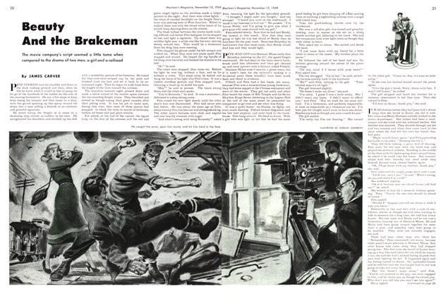 Article Preview: Beauty And the Brakeman, November 1949 | Maclean's