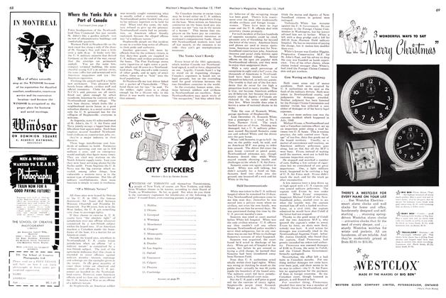 Article Preview: CITY STICKERS, November 1949 | Maclean's