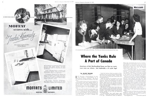 Article Preview: Where the Yanks Rule A Part of Canada, November 1949 | Maclean's