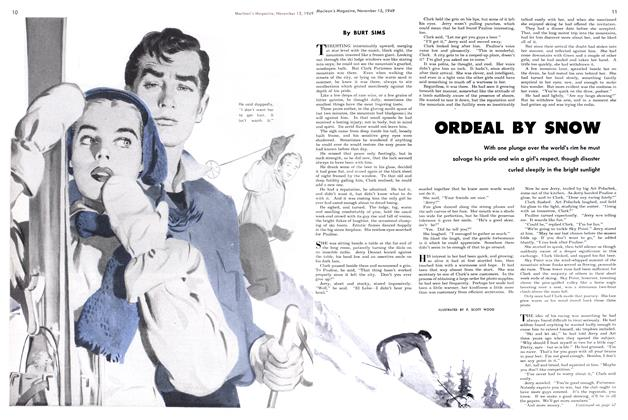 Article Preview: ORDEAL BY SNOW, November 1949 | Maclean's