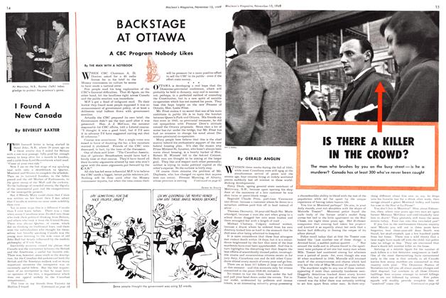 Article Preview: IS THERE A KILLER IN THE CROWD?, November 1949 | Maclean's