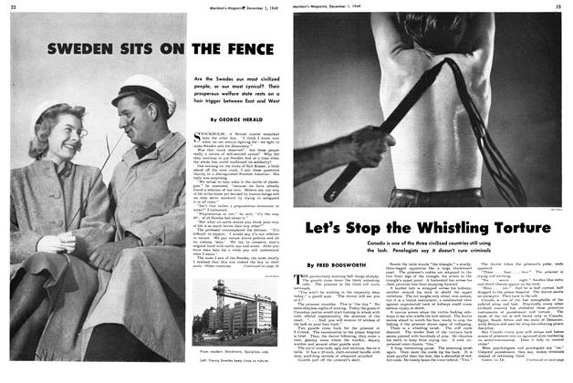 Article Preview: Let's Stop the Whistling Torture, December 1949 | Maclean's