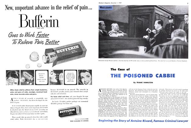Article Preview: The Case of THE POISONED CABBIE, December 1949 | Maclean's
