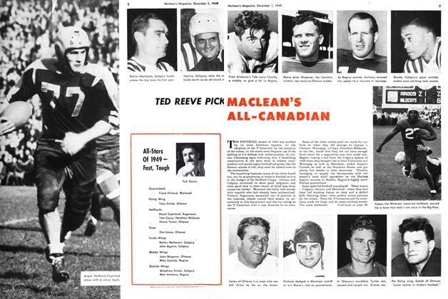 Article Preview: TED REEVE PICKED MACLEAN'S ALL-CANADIAN'S, December 1949 | Maclean's
