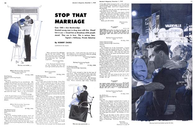 Article Preview: STOP THAT MARRIAGE, December 1949 | Maclean's