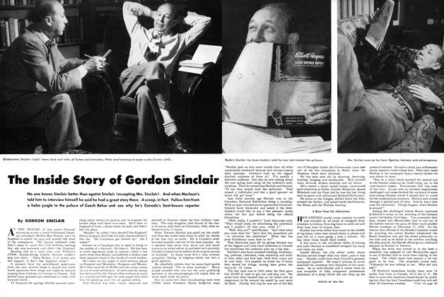 Article Preview: The Inside Story of Gordon Sinclair, December 1949 | Maclean's