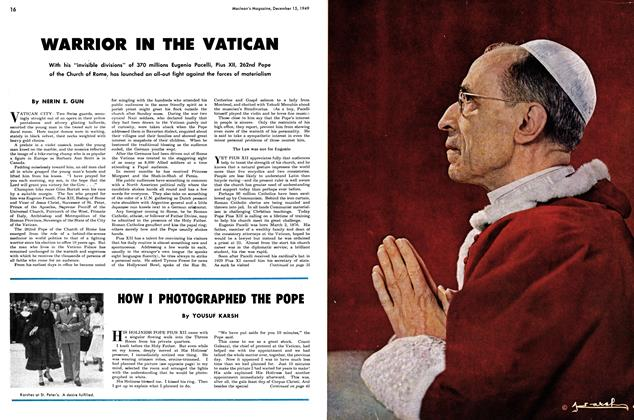 Article Preview: WARRIOR IN THE VATICAN, December 1949 | Maclean's