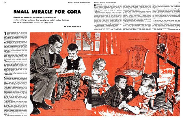 Article Preview: SMALL MIRACLE FOR CORA, December 1949 | Maclean's