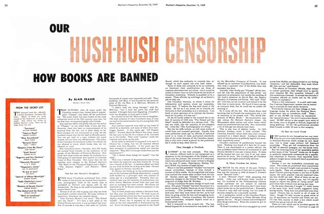 Article Preview: OUR HUSH-HUSH CENSORSHIP, December 1949 | Maclean's