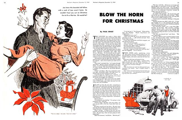 Article Preview: BLOW THE HORN FOR CHRISTMAS, December 1949 | Maclean's