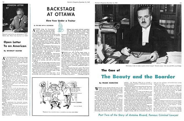 Article Preview: The Case of The Beauty and the Boarder, December 1949 | Maclean's