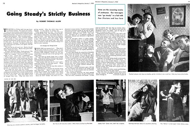 Article Preview: Going Steady's Strictly Business, January 1950 | Maclean's