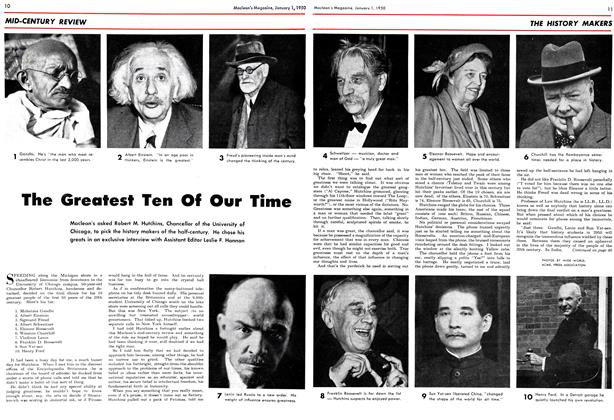 Article Preview: The Greatest Ten Of Our Time, January 1950 | Maclean's