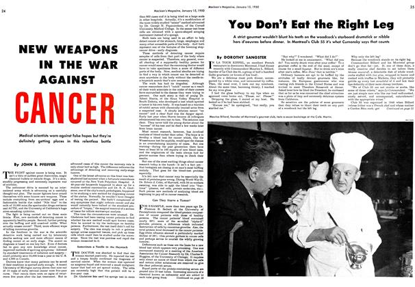 Article Preview: NEW WEAPONS IN THE WAR AGAINST CANCER, January 1950 | Maclean's