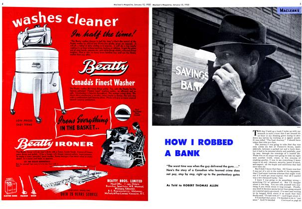 Article Preview: HOW I ROBBED A BANK, January 1950 | Maclean's