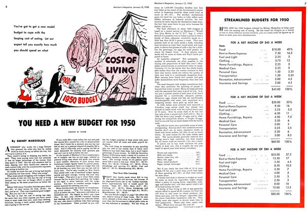 Article Preview: YOU NEED A NEW BUDGET FOR 1950, January 1950 | Maclean's