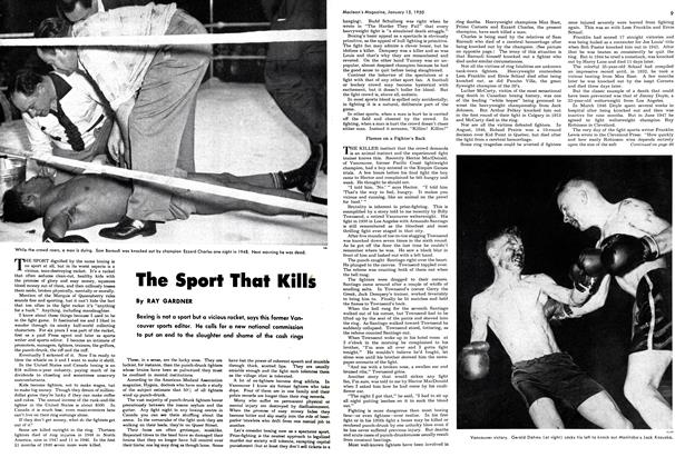 Article Preview: The Sport That Kills, January 1950 | Maclean's
