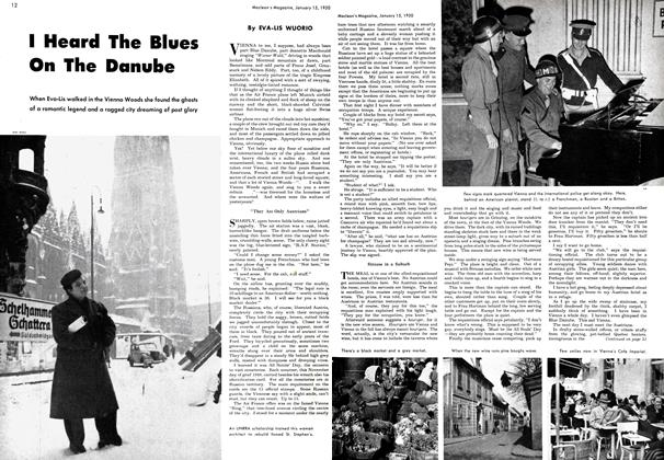 Article Preview: I Heard The Blues On The Danube, January 1950 | Maclean's