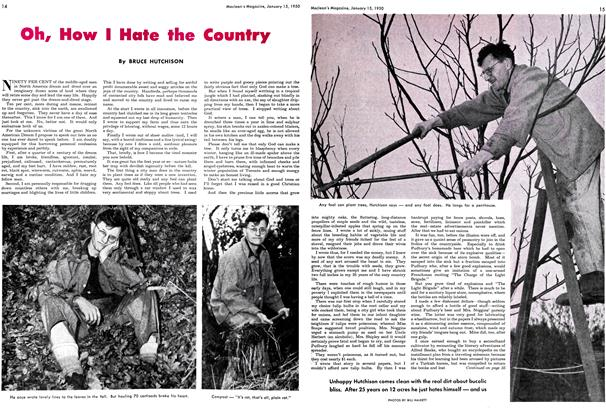 Article Preview: Oh, How I Hate the Country, January 1950 | Maclean's