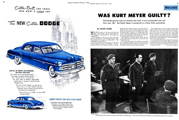 Article Preview: WAS KURT MEYER GUILTY?, February 1950 | Maclean's