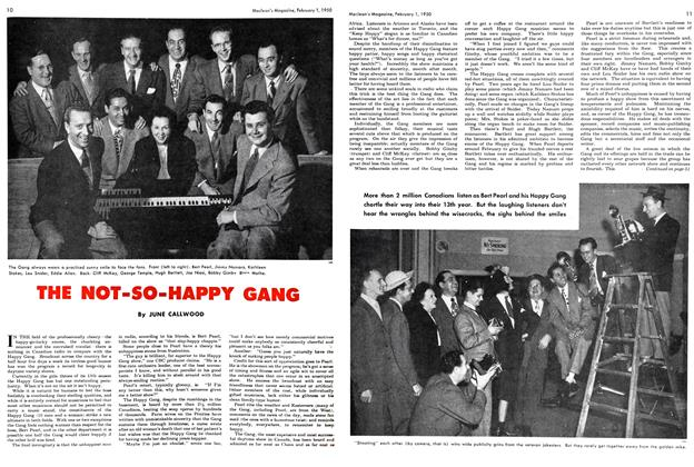 Article Preview: THE NOT-SO-HAPPY GANG, February 1950 | Maclean's