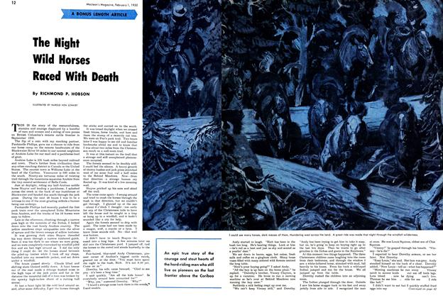 Article Preview: The Night Wild Horses Raced With Death, February 1950 | Maclean's