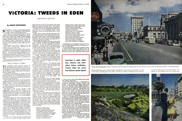 Article Preview: VICTORIA: TWEEDS IN EDEN, February 1950 | Maclean's