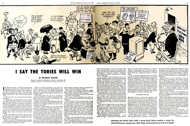 Article Preview: I SAY THE TORIES WILL WIN, February 1950 | Maclean's