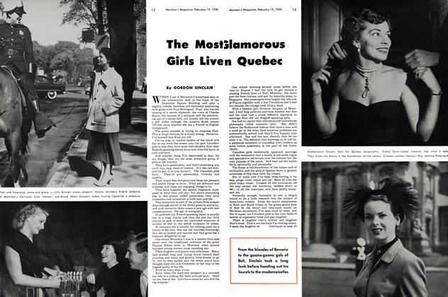 Article Preview: The Most Glamorous Girls Live In Quebec, February 1950 | Maclean's