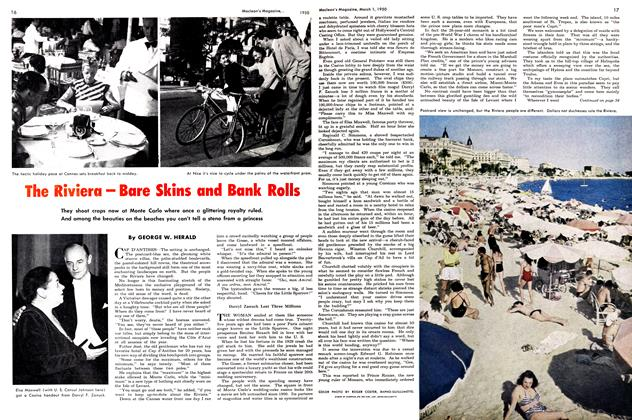 Article Preview: The Riviera-Bare Skins and Bank Rolls, March 1950 | Maclean's