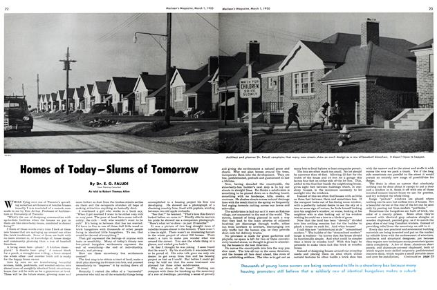 Article Preview: Homes of Today-Slums of Tomorrow, March 1950 | Maclean's
