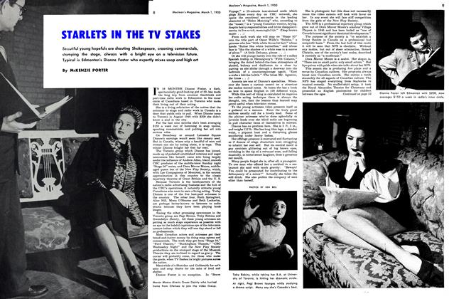 Article Preview: STARLETS THE TV STAKES, March 1950 | Maclean's