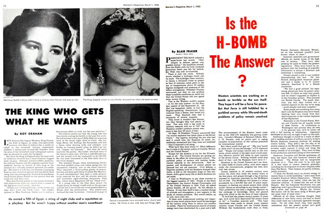 Article Preview: Is the H-BOMB The Answer ?, March 1950 | Maclean's