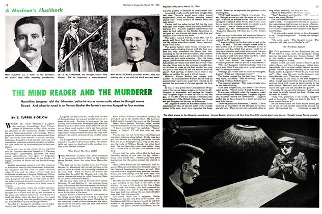 Article Preview: THE MIND READER AND THE MURDERER, March 1950 | Maclean's