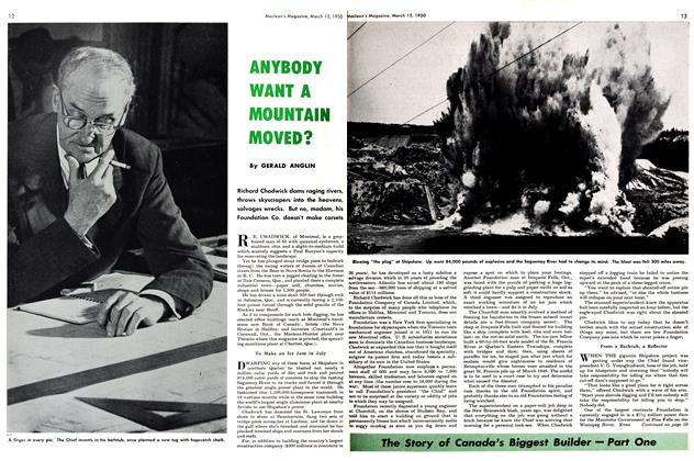 Article Preview: ANYBODY WANT A MOUNTAIN MOVED?, March 1950 | Maclean's