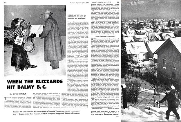 Article Preview: WHEN THE BLIZZARDS HIT BALMY B.C., April 1950 | Maclean's