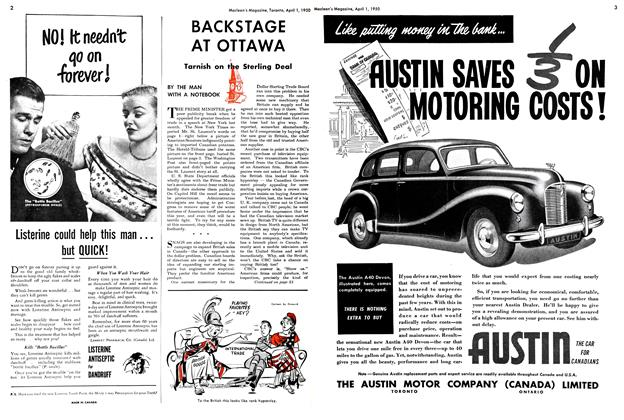 Article Preview: BACKSTAGE AT OTTAWA, April 1950   Maclean's