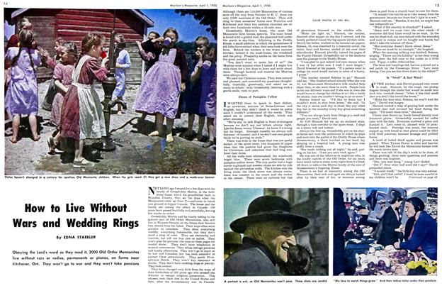 Article Preview: How to Live Without Wars and Wedding Rings, April 1950 | Maclean's