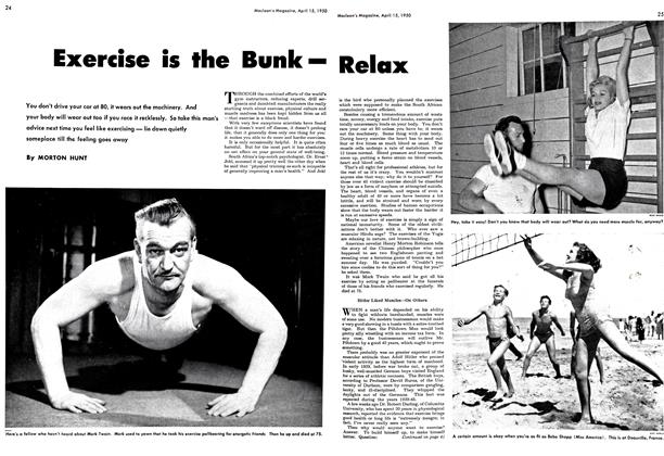 Article Preview: Exercise is the Bunk—Relax, April 1950 | Maclean's